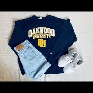 Champions Oakwood Navy Blue sweater.